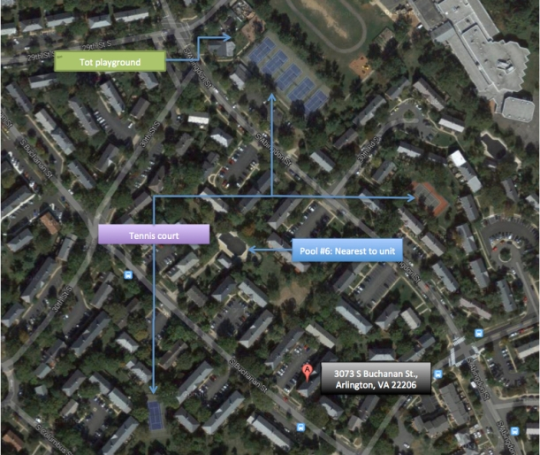 Fairlington map tennis pools tot lot